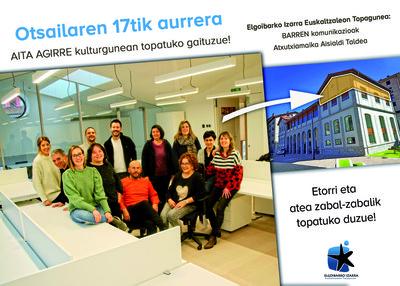 Aita Agirre Kulturgunera goaz!