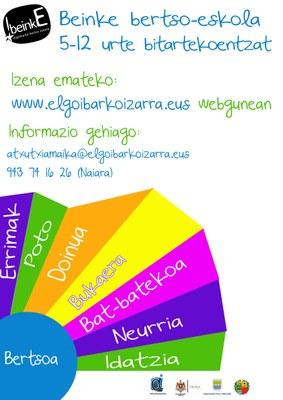 Bertso-eskolan izena emateko epea zabalik