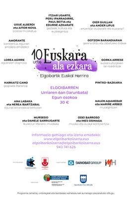 Euskalgintza eta kulturgintza, Euskara ala Ezkara zikloaren 10. urteurrenean