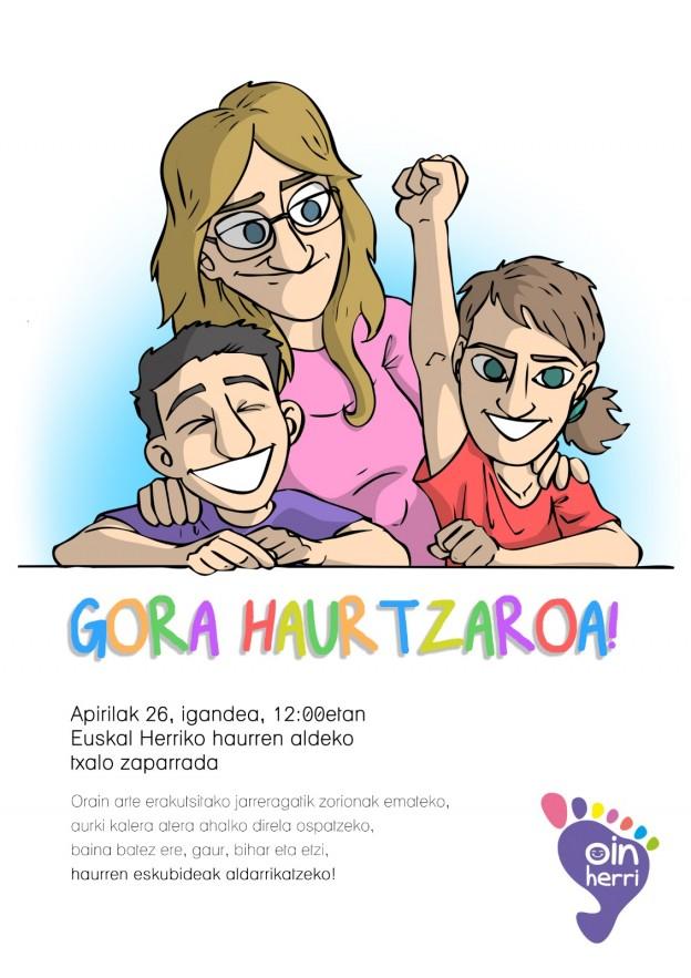 Oinherriren manifestua: #GORA HAURTZAROA!!!