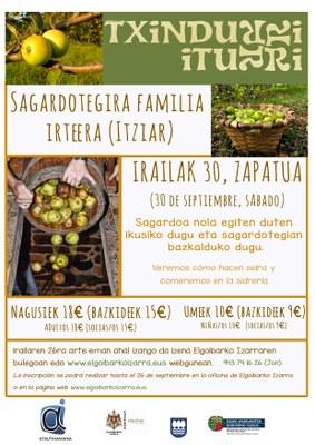 Txindurri Iturri sagardotegira familia irteera.